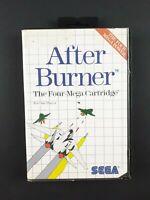 After Burner | Sega Master System SMS | Aus PAL | Missing Manual | 1988 | Arcade