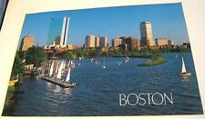 United States Boston Charles River Esplanade and Back Bay Skyline - posted 1992