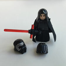 Lego Star Wars Custom Kylo Ren + Hair, Hood & Custom Lightsaber, Cape, Skirt