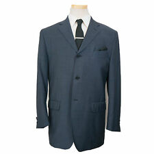 MARZOTTO LAB 44R Colbalt Blue 3 Btn Quarter Lined Pick Stitching Blazer