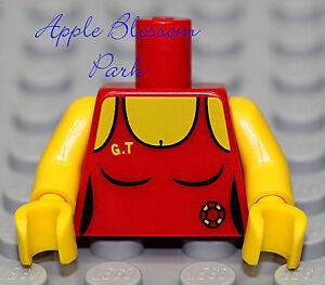NEW Lego Female Minifig RED TORSO - Girl Lifeguard Swim Suit Tank Top Shirt