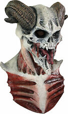 Halloween LifeSize Costume DEVIL HORNED SKULL LATEX DELUXE MASK Haunted House