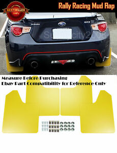 "15"" x 11.5"" 4 Pcs Yellow Rally Racing Flexible Mud Flaps Splash Guard Fit Nissan"