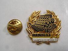 PIN'S arthus bertrand renault champion du monde 1992