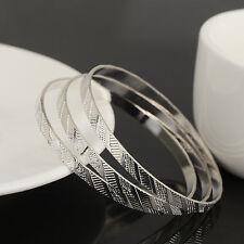 3pcs/lot  Filled silver CZ Crystal Tag ID Bracelet Children Baby boy Girl Infant