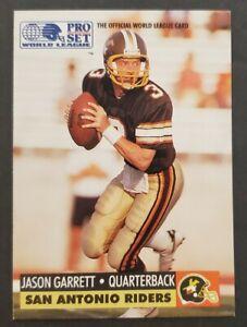 1991 Pro Set #31 Jason Garrett RC Riders/ COWBOYS HC Rookie football card NM
