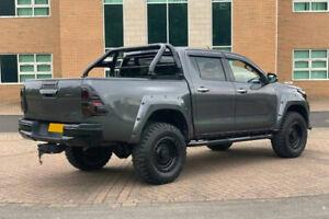 Black Textured Roll Bar - New Toyota Hilux 2016 + (Revo) - Fits with Tonneau