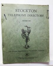 Stockton (California) Telephone Directory and Yellow Pages, Aug 1946