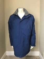 LL BEAN Men's Blue Winter Coat Hooded Jacket Parka WARM! XXL Tall