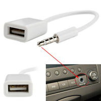 3.5mm Male AUX Audio Plug Jack to USB 2.0 Female Converter Cable Cord Car MP3 #H