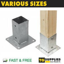 More details for heavy duty galvanised bolt down post support square post bracket post base