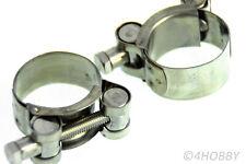 2 gelenkbolzenschellen acero inoxidable 33-36mm abrazaderas de manguera klemmschellen cascabeles
