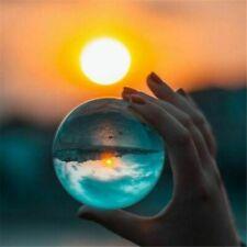 "LONGWIN 80mm 3.15"" Quartz Crystal Ball Sphere Scrying Glass Balls Wood Stand"
