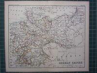 1887 Antik Landkarte ~Deutsche Reich~ Bavaria Preußen Westfalen Hanover