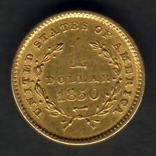 U.S.A. 1850 Gold Dollar..   aEF - Much Lustre