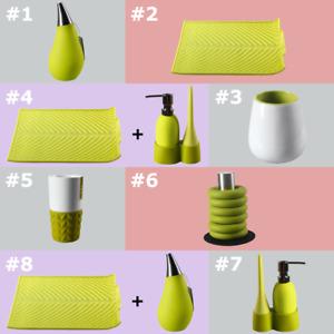 All Green FLOW Kitchen & Bathroom Supplies (Soap Dispenser, Mugs, Trivets, Etc)