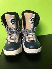 Mercury By Liquid Snow Board Boots Mens Size 9 Navy Blue White And Beige