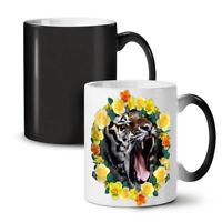 Tiger Flowers NEW Colour Changing Tea Coffee Mug 11 oz | Wellcoda