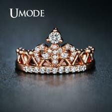 Zirconia Rose Gold Promise Rings Fashion Umode Crown Rings for Women Cubic