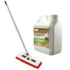 Patio Slab Power Brush and 5L Cleaning Solution Cleaner Set