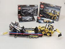 PRL) LEGO TECHNIC 42004 SCAVATRICE +CARRELLO + 42032 LOADER SNOW GROOMER BACKHOE