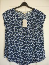 BODEN PLEAT FRONT TOP RIVIERA BLUE, YELLOW BUD UK 14, EUR 40-42, US 10 NWT WA774