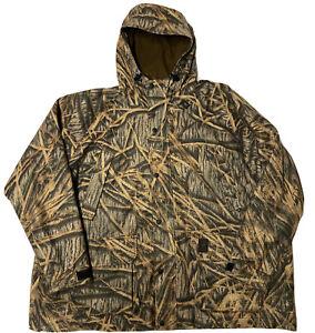 Browning Goretex Hyrdo Fleece Jacket Mens 3XL Camouflage Hooded Hunting GUC