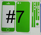"""* Choice of 13 Colours * iPhone 5 """" Matte """" Full Body Vinyl Decal Skin sticker"""