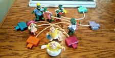 1992 McDONALD'S DINOSAURS DINO-MOTION COMPLETE SET OF 7 W/UNDER-3