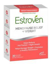 Estroven Menopause Relief + Weight Management 30 Capsules Exp 3/2021