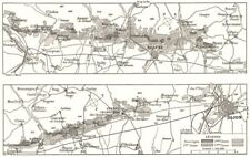 Francia. its Crus de Bourgogne 1900 cuadro de plan de Mapa Antiguo Vintage Antiguo
