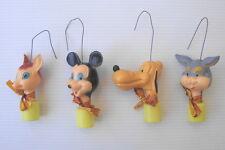 Figurines anciennes de Noel WDP disney vintage ornament Christmas mickey bambi