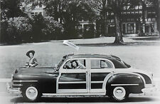 """1947 Chrysler  Town & Country, 4 door w ROOF RACK 12 X 18"""" Black & White Picture"""