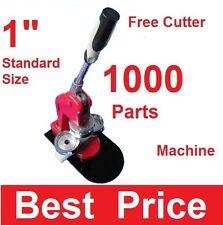 "1"" 25mm Artec Button Maker Machine + 1,000 Parts + Circle Cutter Usa Best Price"