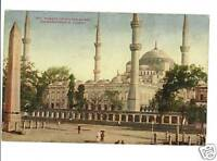 CONSTANTINOPLE TURKEY 1910 MOSQUE SULTAN AHMID POSTCARD