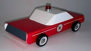 Candylab Wooden Toys, FIRE CHIEF CAR (Used Condition)
