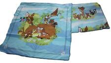 Vintage Disney CTI Bambi Flat Sheet + Pillowcase Twin Bed Made in France