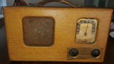 Vintage Tweed Philco 39-71 Battery Tube Radio Set Art Deco Table top
