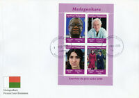 Madagascar 2019 FDC Nobel Prize Winners 2018 4v M/S Cover Peace Physics Stamps