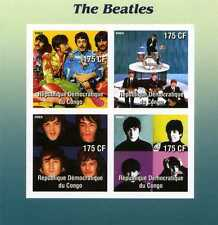 BEATLES 2003 Congo Stamp Block #1; unperforated; mnh; Sgt. Peppers