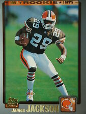 NFL 359 James Jackson Cleveland Browns Topps 2001 Rookie