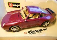 BOXED & RARE - PORSCHE 911 CARRERA 1993 BURAGO 1/18 COD 3060 DIAMONDS COLLECTION