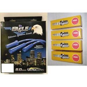 Blue Eagle 8mm Ignition Leads & 4 NGK Spark Plugs 84260HD BPR5ES-11