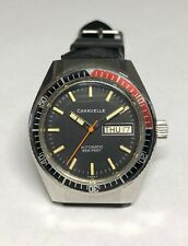 Vintage Caravelle Automatic 17 Jwl Diving Watch Coke Diver Bezel and SS case, P0