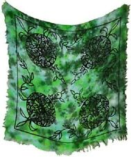 "Green Man Altar / Tarot Cloth 18"" x 18"" Green with Fringe (NEW, Wicca Pagan)"