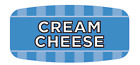 """Cream Cheese Labels 1000 per Roll Food Store Flavor Stickers .625"""" X 1.25"""""""