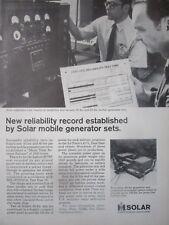 5/1971 PUB SOLAR GAS TURBINE MOBILE GENERATOR SET USAF AIR FORCE ORIGINAL AD