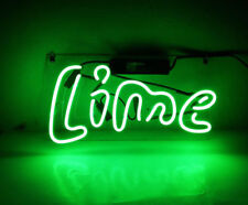 "Lime Neon Sign Light Beer Bar Pub Club Wall Poster Handmade Visual Artwork14""x7"""