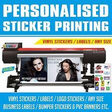 Etiqueta engomada de la impresión de etiquetas de vinilo personalizado a granel coche auto adhesivos con el logotipo de negocios