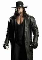 WWE The Undertaker's Long Length Genuine Leather Jacket Trench Coat